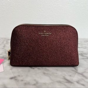 Kate Spade Shimmy Glitter Cosmetic Case Pouch